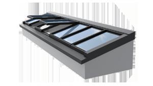 Pultdach und Wand-Pultdach für flache Dächer wie z.B. Industrie-Hallendächer