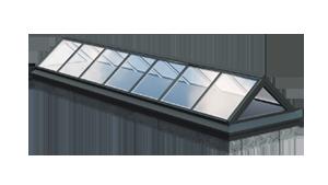 Glas-Satteldach Lichtband