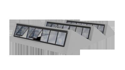 Sheddach Dachverglasung