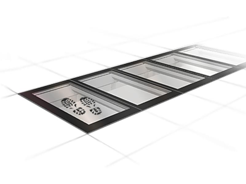 SkyVision LINEAR WALK-ON – unbegrenzt erweiterbares, begehbares Lichtband